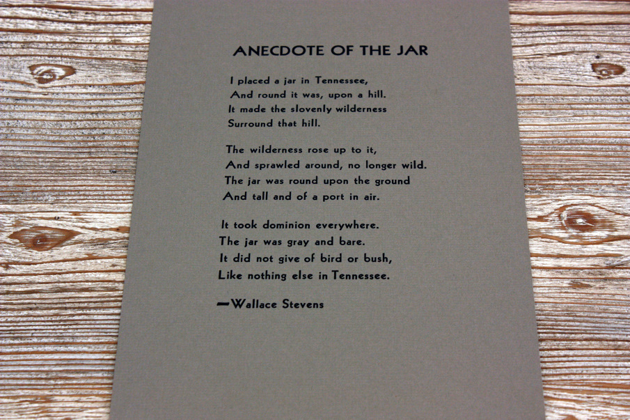 Anecdote of the jar essays